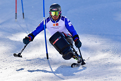 de SILVESTRO Rene', LW12-1, ITA, Slalom at the WPAS_2019 Alpine Skiing World Cup Finals, Morzine, France
