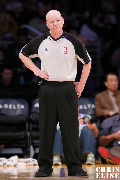 17 November 2013: referee Joe Crawford (17) is seen during the Los Angeles Lakers 114-99 victory over the Detroit Pistons at the Staples Center, Los Angeles, California, USA.