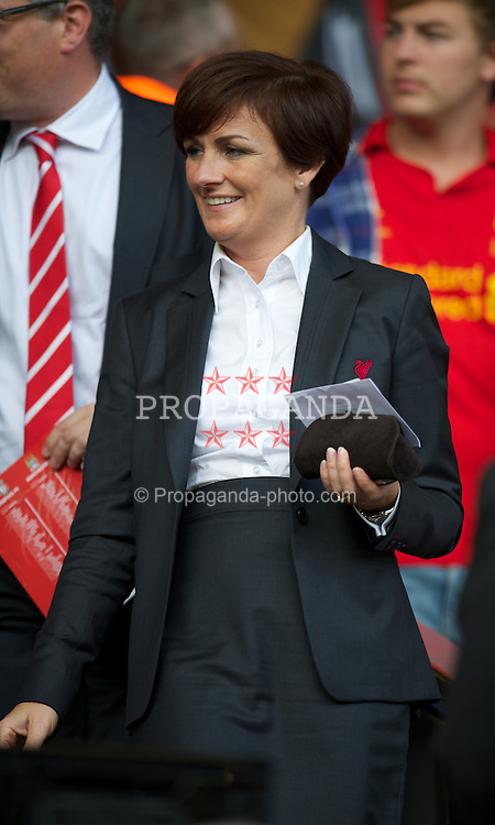 LIVERPOOL, ENGLAND - Sunday, August 26, 2012: Liverpool club solicitor Natalie Wignall during the Premiership match against Manchester City at Anfield. (Pic by David Rawcliffe/Propaganda)