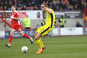 Harry Pell scores and celebrates the opening goal during the EFL Sky Bet League 2 match between Crawley Town and Cheltenham Town at the Checkatrade.com Stadium, Crawley, England on 24 March 2018. Picture by Antony Thompson.