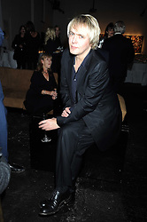 NICK RHODES at an exhibition entitled 'Cut Flowers' by Robin Derrick held at 70a Silverthorne Road, London SW8 on 8th October 2008.