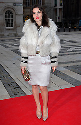 Lara Bohinc arriving at the Women for Women International Gala in London, Thursday, 3rd May 2012. Photo by: Stephen Lock / i-Images