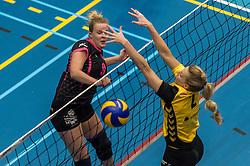 09-04-2016 NED: SV Dynamo - Flamingo's 56, Apeldoorn<br /> Flamingo's doet een goede stap naar het kampioenschap in de Topdivisie. Dynamo wordt met 3-0 verslagen / Anke Sonnemans #9 of Flamingo