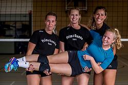 26-10-2017 NED: Training Prima Donna Kaas vrouwen, Huizen<br /> Yara van Keeken #2 of PDK Huizen, Sanne Berculo #4 of PDK Huizen, Eva Hilhorst #12 of PDK Huizen, Lyanne Spittje #1 of PDK Huizen