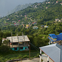 Village of Sarahan, in the mountains of Himachal Pradesh in India.