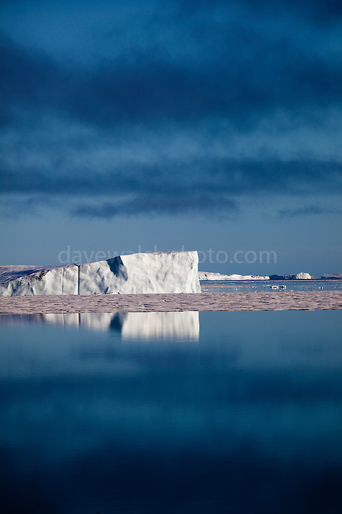 Icebergs and low cloud in Kane Basin, North West Greenland