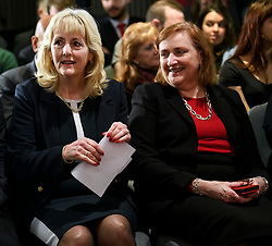 © Licensed to London News Pictures. 09/04/2018. London, UK. General Secretary of the Labour Party JENNIE FORMBY and Labour MP for Kensington EMMA DENT COAD, attend the launch event for the Labour Party local election campaign launch in central London.  Labour are expected to make gains in the capital, potentially taking traditionally Conservative strongholds. Photo credit: Ben Cawthra/LNP