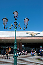 Exterior of Venice Santa Lucia railway station in Italy
