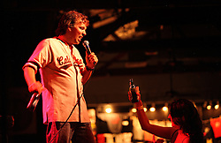 Comedian Doug Stanhope performs onstage at Antones in downtown Austin, Texas on Aug. 3, 2008. Stanhope will be performing at the Edinburgh Festival.