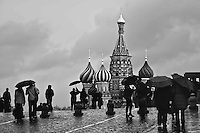 Umbrellas in Red Square