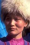Ethnic Uyghur at the  Mukhtar Auezov festival in Almaty, Kazakhstan