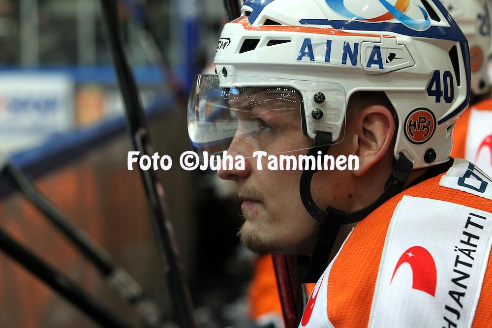 22.04.2010, Patria Areena, H?meenlinna..J??kiekon SM-liiga 2009-10, playoffs 1. loppuottelu HPK - TPS..Joonas Vihko - HPK.©Juha Tamminen.