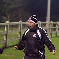 West Clare's Assisstane Manager Barry Copley celebrates after their side scores a goal in the Division 3 Shield FInal