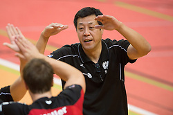 27-10-2013 VOLLEYBAL: MOERSER SC - VC DRESDEN: MOERS<br /> Chang Cheng Liu (Trainer / Coach Moers)<br /> ***NETHERLANDS ONLY***<br /> ©2013-FotoHoogendoorn.nl