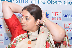 September 29, 2018 - Kolkata, West Bengal, India - Smriti Z. Irani Union Minister for Textiles at the  117th Annual Genaral  Meeting on September 29,2018 in Kolkata,India. (Credit Image: © Debajyoti Chakraborty/NurPhoto/ZUMA Press)