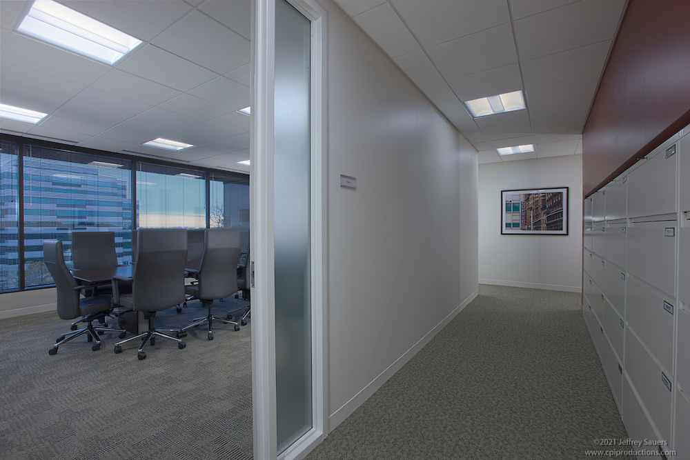 Architecural interior image of Rees Broom Law Firm offices in Vienna Virginia by Jeffrey Sauers of Commercial Photographics