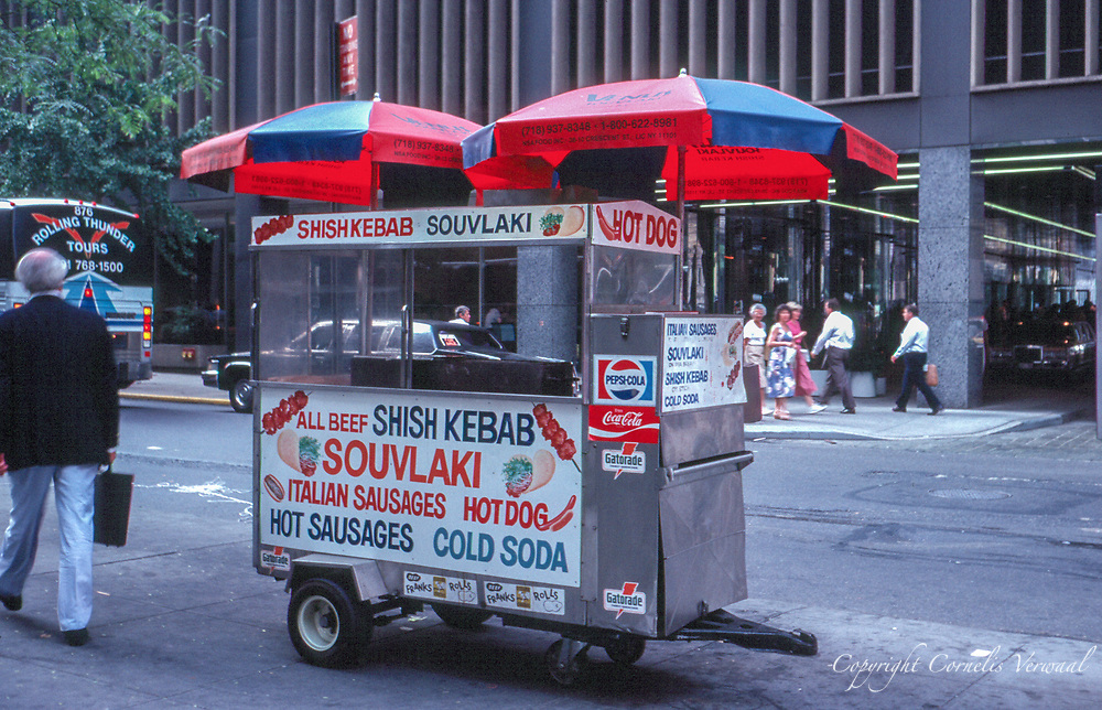 Hot dog cart near Rockefeller Center