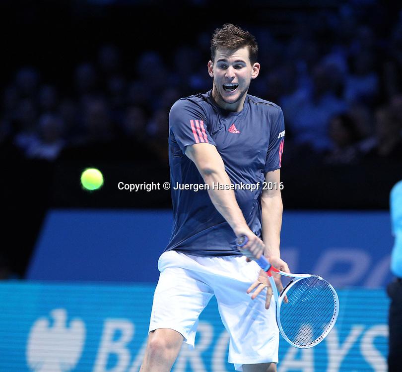 DOMINIC THIEM (AUT), ATP World Tour Finals, O2 Arena, London, England.<br /> <br /> Tennis - ATP World Tour Finals 2016 - ATP -  O2 Arena - London -  - Great Britain  - 15 November 2016. <br /> &copy; Juergen Hasenkopf/Grieves