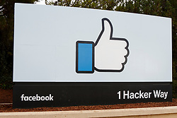 Like sign outside of Facebook Headquarters, 1 Hacker Way, Menlo Park, California, United States of America