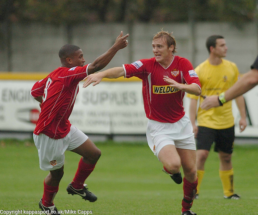 BRETT SOLKHON FIRES IN KETTERING TOWN GOAL AND CELEBRATES, Southport v Kettering Town Conference Saturday 28th October 2006