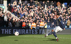 Mahlon Romeo of Millwall misses his penalty - Mandatory by-line: Arron Gent/JMP - 17/03/2019 - FOOTBALL - The Den - London, England - Millwall v Brighton and Hove Albion - Emirates FA Cup Quarter Final