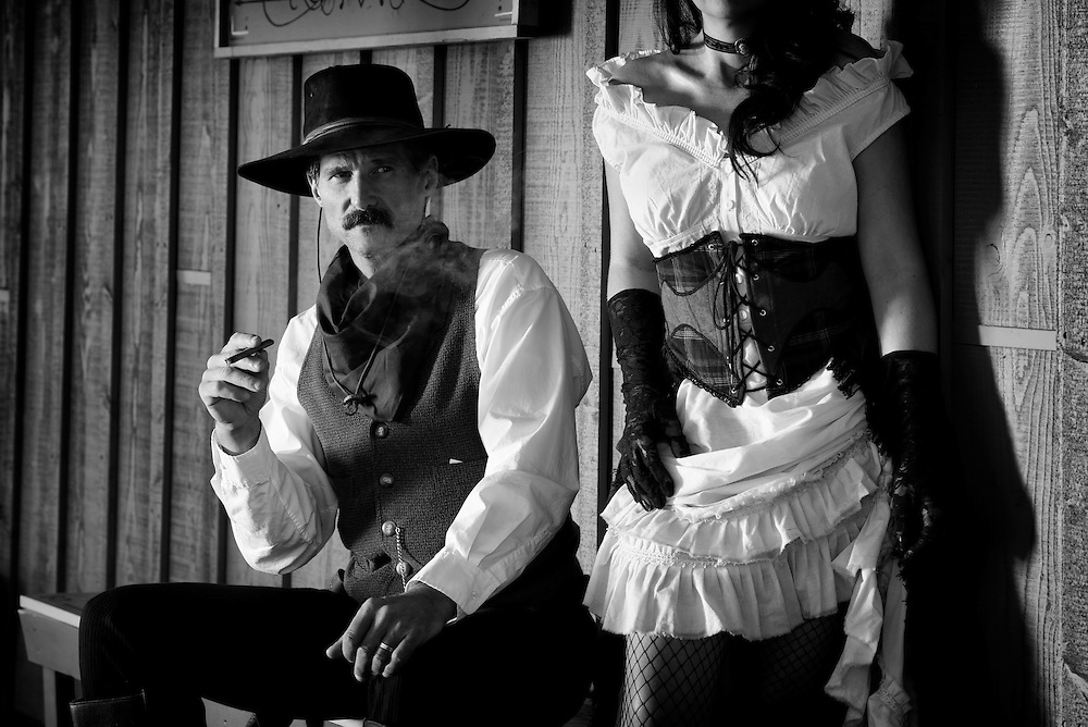USA,Arizona,Tombstone, man and womanold west outfit, model release 0460, 0461