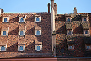 Traditional medieval architecture in Gutenberg Place in the old part of Strasbourg, Alsace, France