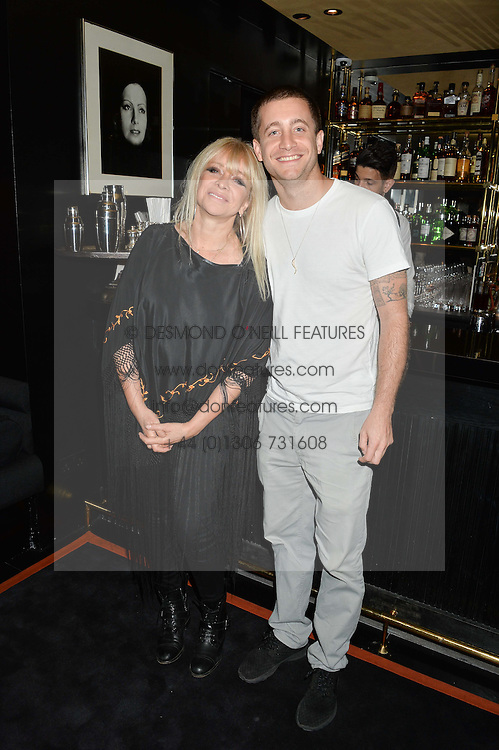 JO WOOD and her son TYRONE WOOD at the launch of Blakes Below at Blakes Hotel, 33 Roland gardens, London SW7 on 14th September 2016.