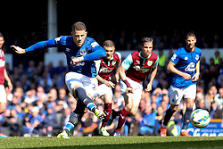 Everton's Ross Barkley has his penalty saved by Burnley Goalkeeper, Tom Heaton  - Photo mandatory by-line: Matt McNulty/JMP - Mobile: 07966 386802 - 18/04/2015 - SPORT - Football - Liverpool - Goodison Park - Everton v Burnley - Barclays Premier League