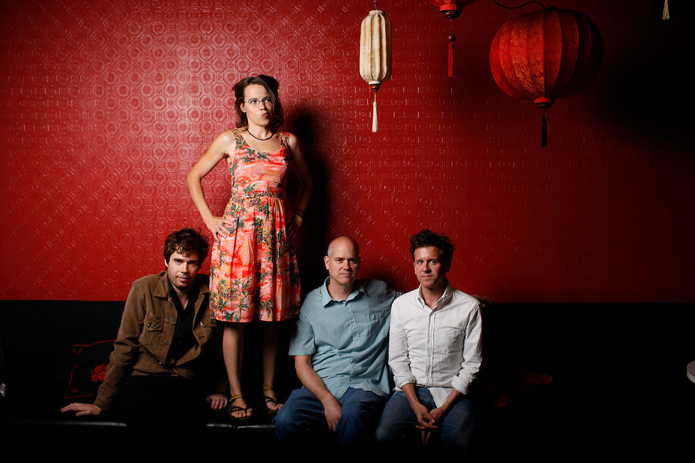 Superchunk; Jon Wurster, Laura Ballance,  Jim Wilbur and Mac McCaughan at Lantern in Chapel Hill, N.C.