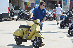 11.06.2015, Biograd, CRO, World Vespa Days 2015, im Bild 5,000 riders from 32 countries are expected to come. // during the World Vespa Days 2015 at Biograd, Croatia on 2015/06/11. EXPA Pictures &copy; 2015, PhotoCredit: EXPA/ Pixsell/ Hrvoje Jelavic<br /> <br /> *****ATTENTION - for AUT, SLO, SUI, SWE, ITA, FRA only*****