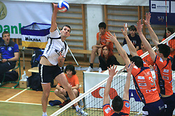 Igor Orel of Salonit at last final volleyball match between OK ACH Volley and Salonit Anhovo, on April 21, 2009, in Arena SGS Radovljica, Slovenia. ACH Volley won the match 3:0 and became Slovenian Champion. (Photo by Vid Ponikvar / Sportida)