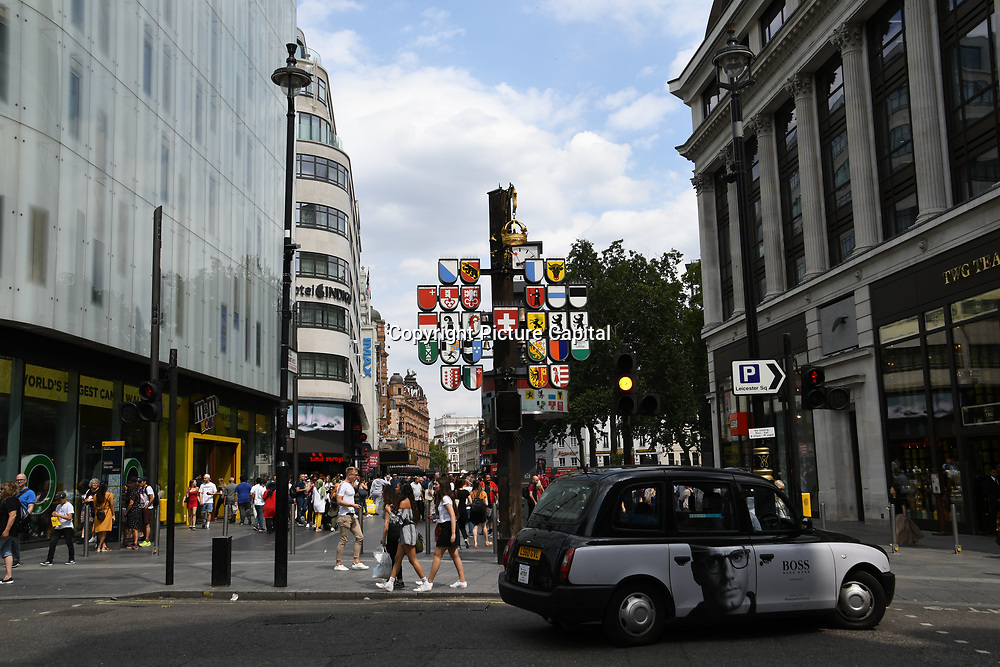 Swiss clock at Piccadilly circus - Westend, London, UK July 19 2018.