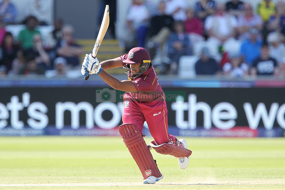 July 1, 2019 - Chester Le Street, County Durham, United Kingdom - Nicholas Pooran of West Indies batting during the ICC Cricket World Cup 2019 match between Sri Lanka and West Indies at Emirates Riverside, Chester le Street on Monday 1st July 2019. (Credit Image: © Mi News/NurPhoto via ZUMA Press)