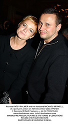 Actress PATSY PALMER and her husband MICHAEL MERKELL, at a party in London on 10th December 2003.PPM 274