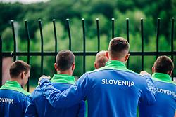 Players during meeting after COVID-19 of Slovenian handball national team at dvorana Kodeljevo on May 26th 2020, Ljubljana, Slovenia. Photo by Sinisa Kanizaj / Sportida