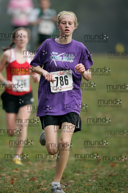 King City, Ontario ---09-11-15--- Chelsey McQuiggan of the St. Thomas Legion Track and Fi competes at the Athletics Ontario Cross Country Championships in King City, Ontario, November 16, 2009..GEOFF ROBINS Mundo Sport Images