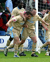 Photo: Dave Linney.<br />Walsall v Bristol City. Coca Cola League 1. 08/04/2006.<br />Bristol's Alex Russell(L) makes it 2-0 from the spot