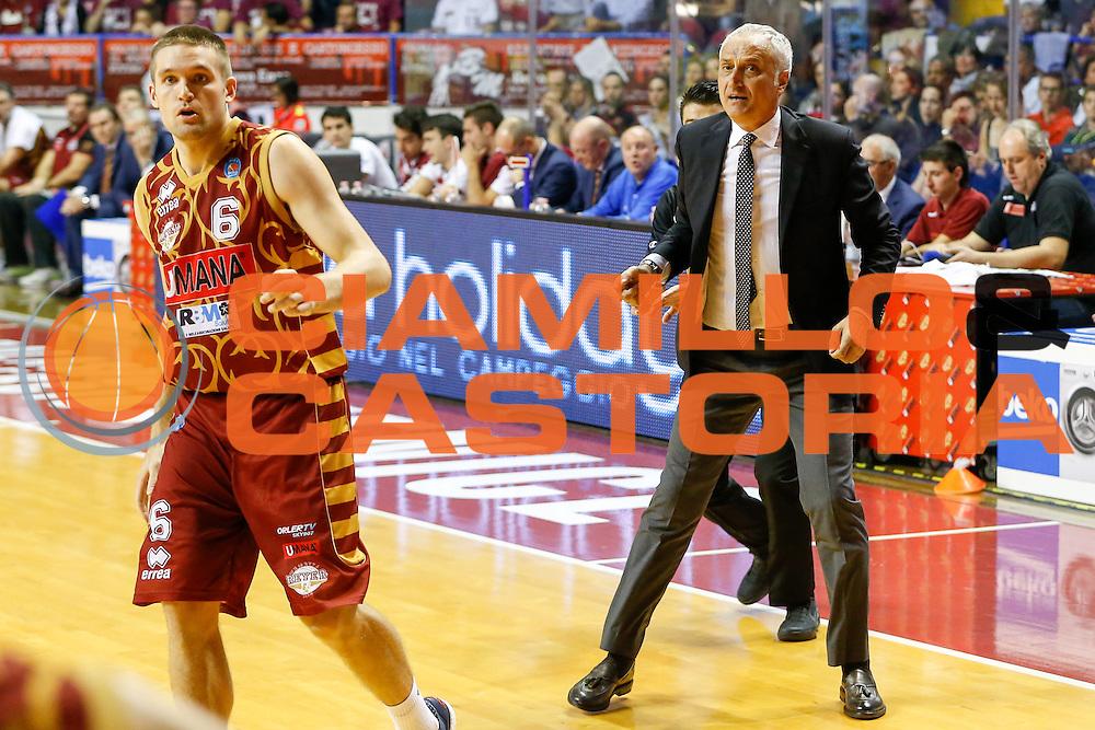 DESCRIZIONE : Venezia Lega A 2015-16 Umana Reyer Venezia - Vanoli Cremona<br /> GIOCATORE : Cesare Pancotto<br /> CATEGORIA : Ritratto<br /> SQUADRA : Umana Reyer Venezia - Vanoli Cremona<br /> EVENTO : Campionato Lega A 2015-2016<br /> GARA : Umana Reyer Venezia - Vanoli Cremona<br /> DATA : 25/10/2015<br /> SPORT : Pallacanestro <br /> AUTORE : Agenzia Ciamillo-Castoria/G. Contessa<br /> Galleria : Lega Basket A 2015-2016 <br /> Fotonotizia : Venezia Lega A 2015-16 Umana Reyer Venezia - Vanoli Cremona