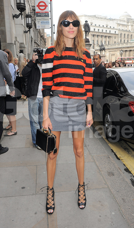 Alexa Chung attends Emilia Wickstead fashion show during London Fashion Spring Summer 2015 in London, UK. 13/09/2014 <br />