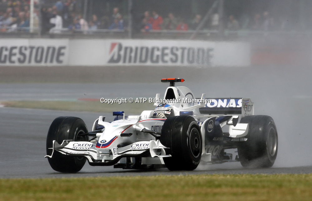 Nick HEIDFELD - BMW-Sauber F1 finishes second in a difficult rain race. Formula 1, British GP, Silverstone, England. 6 july 2008. Photo: ATP/PHOTOSPORT