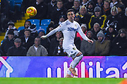 Pablo Hernandez of Leeds United (19) only has eyes for the ball during the EFL Sky Bet Championship match between Leeds United and Bristol City at Elland Road, Leeds, England on 24 November 2018.