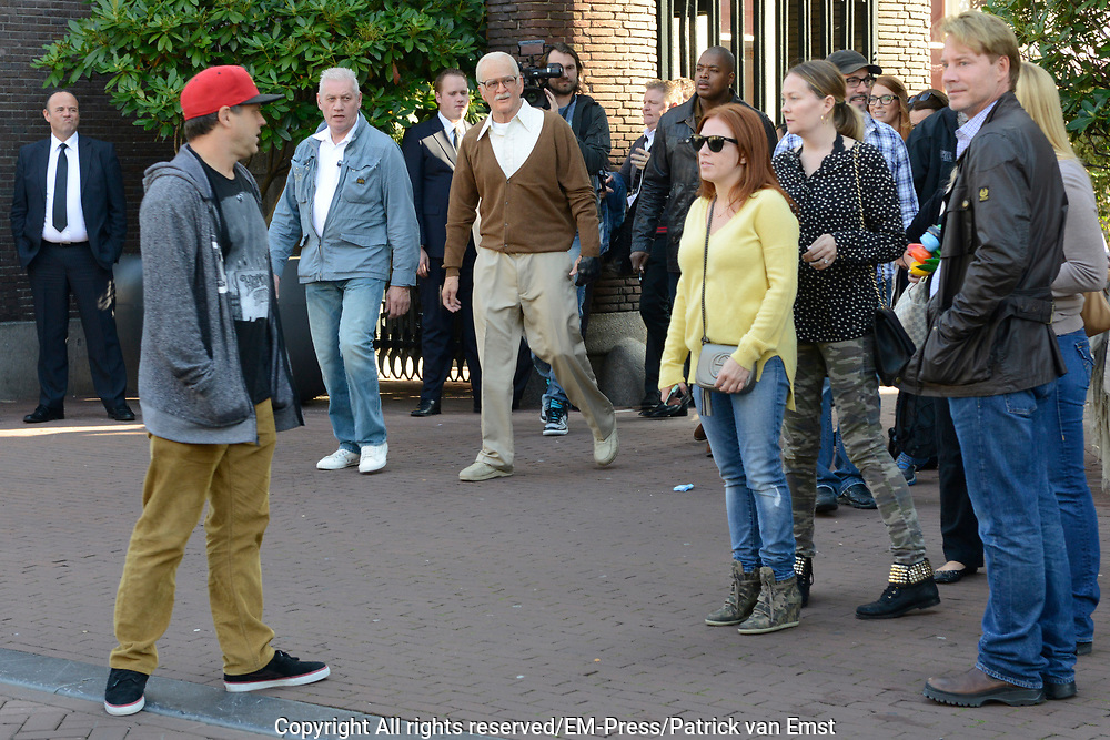 Jackass Johnny Knoxville - Bad Grandpa Perspresentatie in Hotel The Grand, Amsterdam.<br /> <br /> Jackass Johnny Knoxville - Bad Grandpa Press conference at Hotel The Grand, Amsterdam.<br /> <br /> Op de foto / On the photo: Johnny Knoxville as Grandpa in Amsterdam