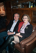 BRIAN HANCILL; FLORENCE ROUILLARD, The Diaries of Fleet Street Fox  by Susie Boniface- book launch party<br /> Century Club, 61-63 Shaftesbury Avenue, London, 18 February 2013