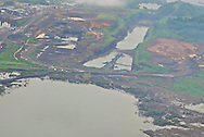 Aerial views of the Panama Canal Expansion. Panama.