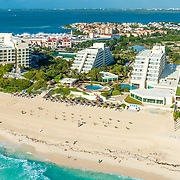Aerial view of the Park Royal hotel. Cancun, Mexico.