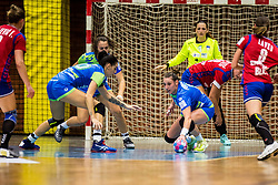 Teja Ferfolja of Slovenia during friendly game between national teams of Slovenia and Serbia on 29th of September, Celje, Slovenija 2018