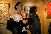 DIANA POVOVA; ELENA KHUDIAKOVA, William S Burroughs: Private Files Exhibition - private view<br /> Riflemaker Contemporary Art Gallery, 79 Beak Street. London. 15 December 2008 *** Local Caption *** -DO NOT ARCHIVE-© Copyright Photograph by Dafydd Jones. 248 Clapham Rd. London SW9 0PZ. Tel 0207 820 0771. www.dafjones.com.<br /> DIANA POVOVA; ELENA KHUDIAKOVA, William S Burroughs: Private Files Exhibition - private view<br /> Riflemaker Contemporary Art Gallery, 79 Beak Street. London. 15 December 2008