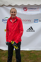 Paula Radcliffe photographed at the celebrity start of the Virgin Money London Marathon 2015, Sunday 26th April 2015<br /> <br /> Roger Allen for Virgin Money London Marathon<br /> <br /> For more information please contact Penny Dain at pennyd@london-marathon.co.uk
