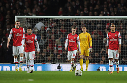 Dejection after Bayern second goal